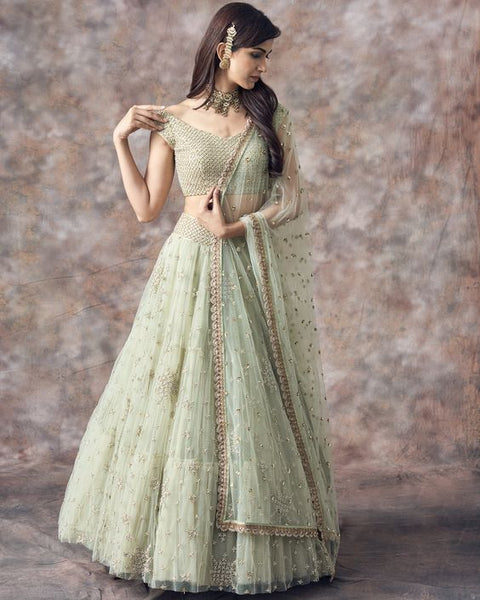 Wonderfull Designer Party Wear Net With Embroidery Work  Lehenga Choli  MDL1682
