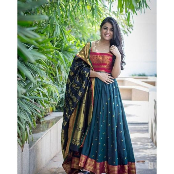 Wonderfull Designer Party Wear Taffeta Silk With Embroidery Work Lehenga Choli  MDL1726