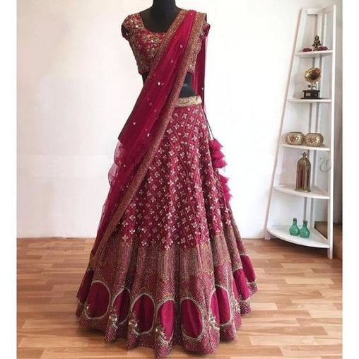 Awesome Collection Of Designer Party Wear Mulberry Silk  With Embroidery Work  Lehenga Choli  MDL1754