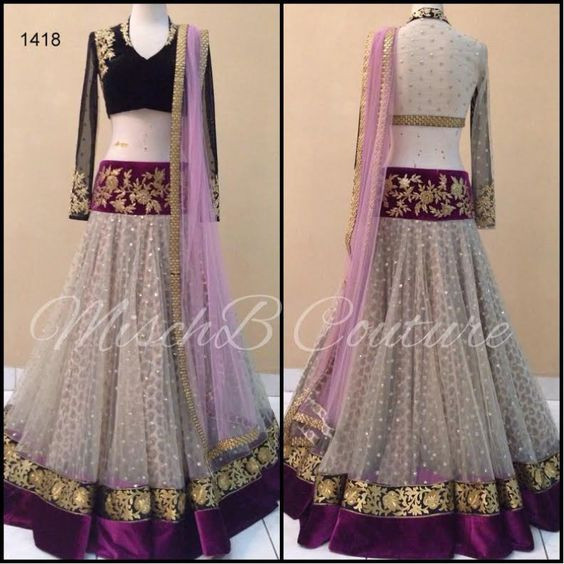Awesome Collection Of Designer Party Wear Net With Embroidery Work  Lehenga Choli  MDL1756