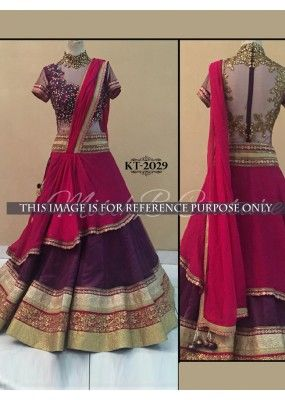 Fabulous Collection Of Designer Party Wear Taffeta Silk With Embroidery Work  Lehenga Choli  MDL1759
