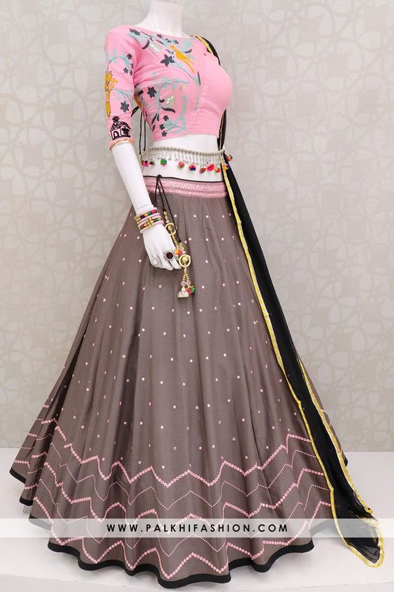 Fabulous Collection Of Designer Party Wear Taffeta Silk With Embroidery Work Lehenga Choli  MDL1760