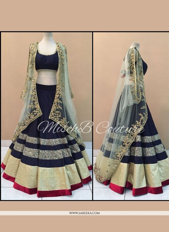 Fabulous Collection Of Designer Party Wear Taffeta Silk With Embroidery Work  Lehenga Choli  MDL1762