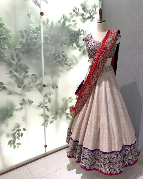 Ethnic Collection Of Designer Party Wear Mulberry Silk With Embroidery Work Lehenga Choli  MDL1768