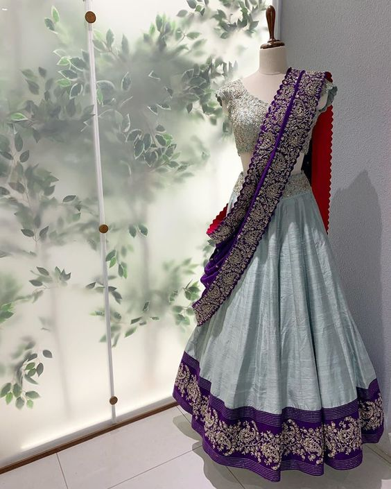 Ethnic Collection Of Designer Party Wear Mulberry Silk With Embroidery Work Lehenga Choli  MDL1770