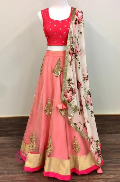 Splendiferous Collection Of Designer Party Wear Net With Embroidery Work Lehenga Choli  MDL1773