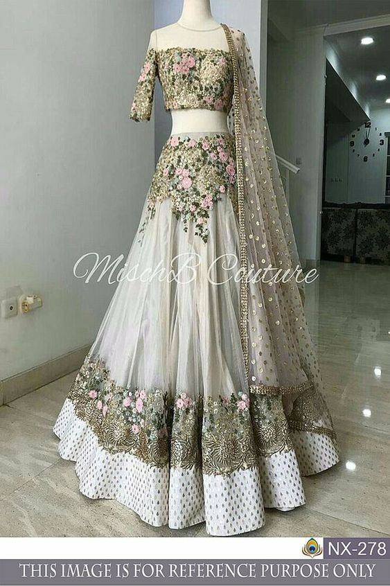 Exquisite Collection Of Designer Party Wear Net With Embroidery Work Lehenga Choli  MDL1789