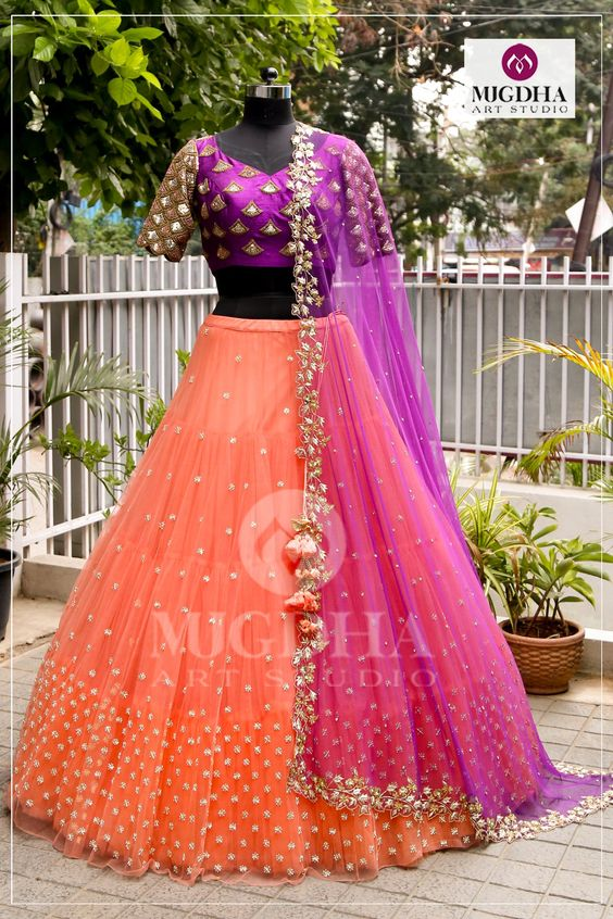 Exquisite Collection Of Designer Party Wear Net With Embroidery Work Lehenga Choli  MDL1795