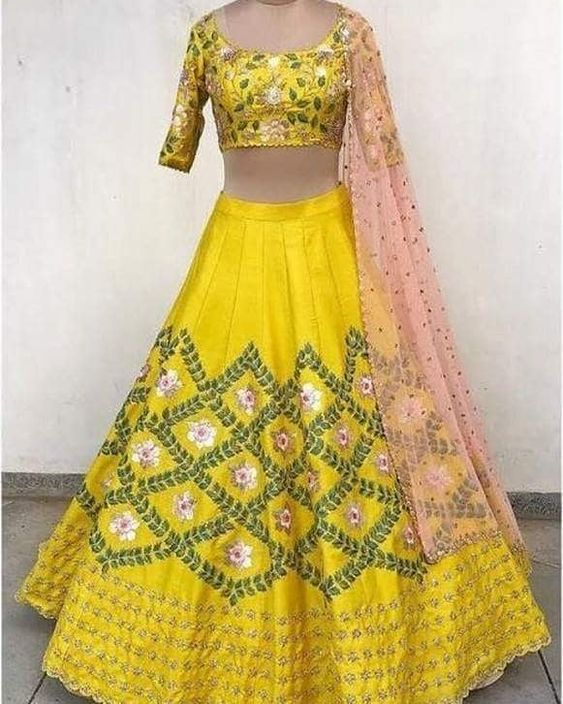 Exquisite Collection Of Designer Party Wear Art Silk With Embroidery Work Lehenga Choli  MDL1796