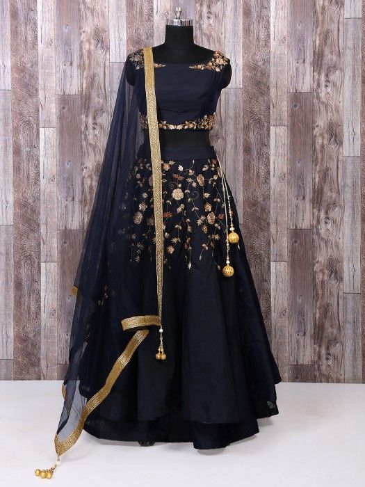 Exquisite Collection Of Designer Party Wear Taffeta Silk With Embroidery Work Lehenga Choli  MDL1800