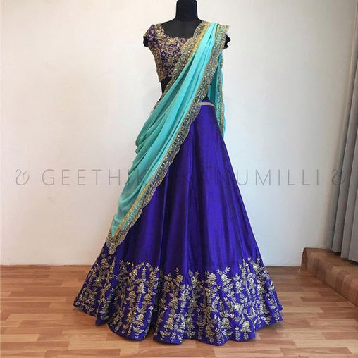 Awesome New Collection of Designer Party Wear Tafeta Silk With Embroidary Work Lehenga Choli MDL1801