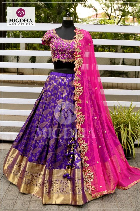 New Collection of Designer Party Wear Jacquard Lehenga Choli MDL1806