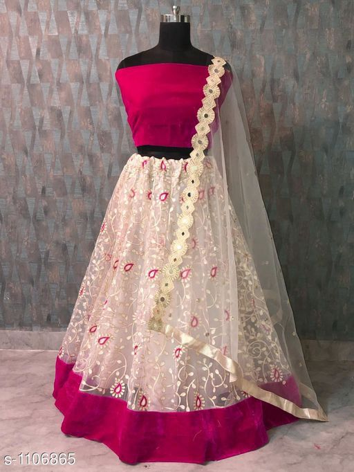 New Collection of Designer Party Wear Net With Embroidery Lehenga Choli MDL1814