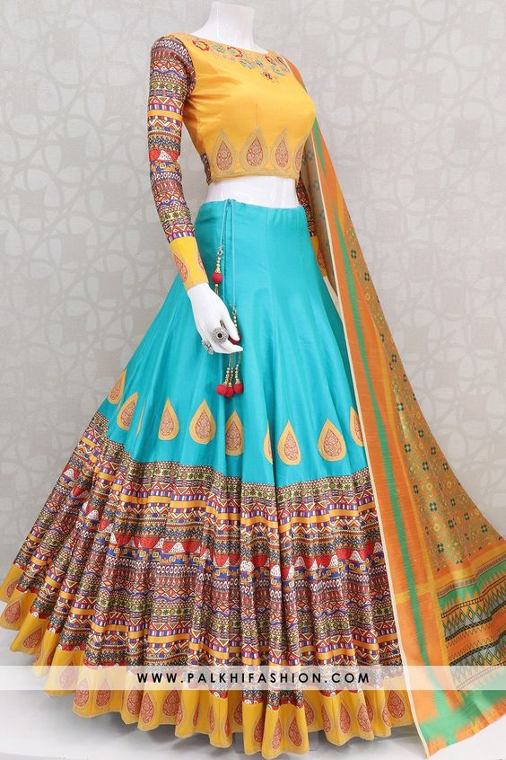 Leatest Collection of Designer Party Wear Mulbery Silk With Print Lehenga Choli MDL1817