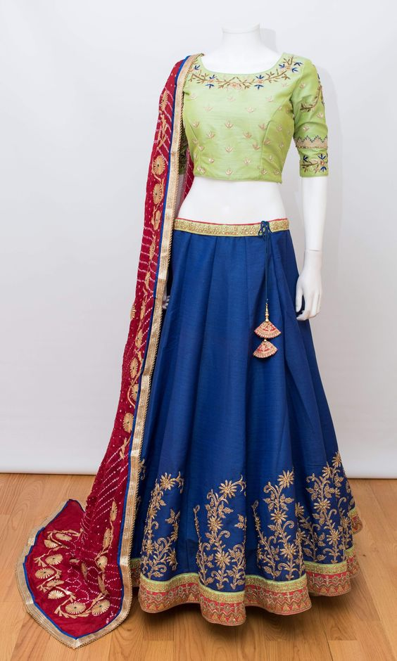 New Collection of Designer Party Wear Tafeta Silk With Embroidery Work Lehenga Choli MDL1822