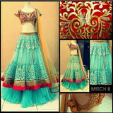 New Collection of Designer Party Wear Net With Embroidery Work  Lehenga Choli MDL1826