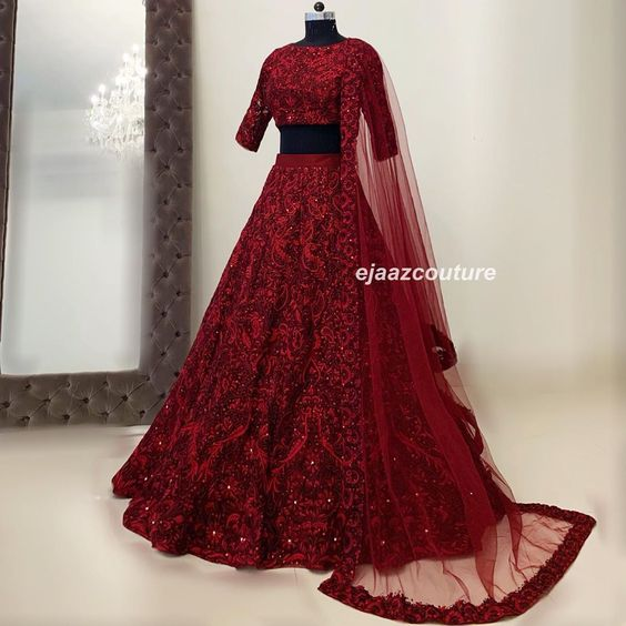 Leatest Collection of Designer Party Wear Net With Embroidery Work Lehenga Choli MDL1832