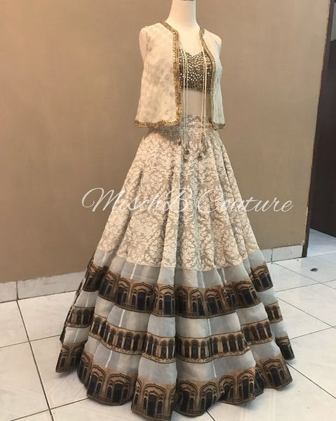 New Collection of Designer Party Wear Georgette With Embroidery Work Lehenga Choli MDL1834