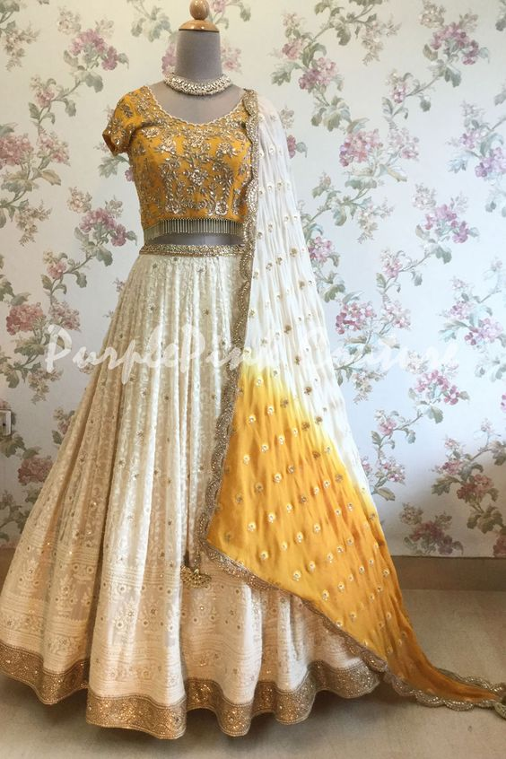 New Collection of Designer Party Wear Tafeta Silk With Embroidery Work Lehenga Choli MDL1836