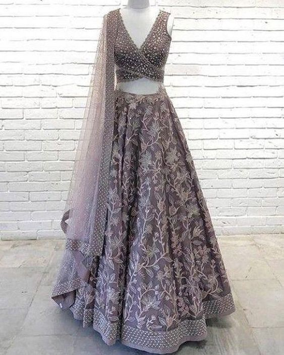 New Collection of Designer Party Wear Georgette With Embroidery Work Lehenga Choli MDL1837