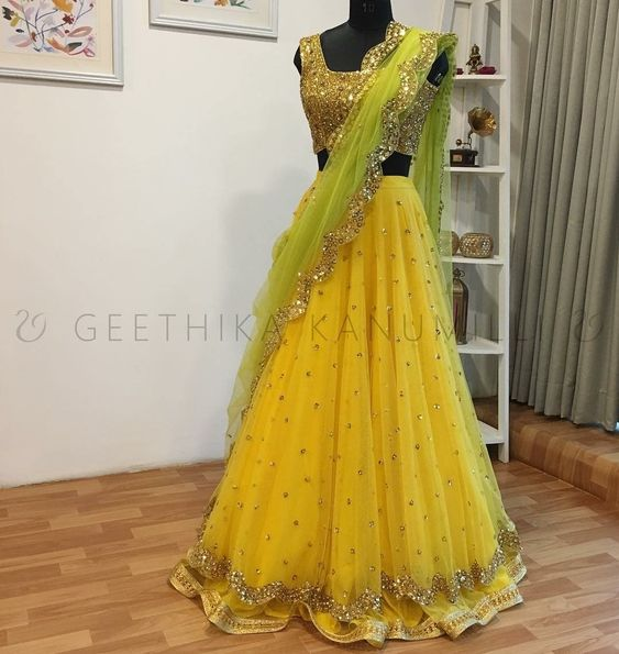 Awesome Collection of Designer Party Wear Net  With Embroidery Work Lehenga Choli MDL1840