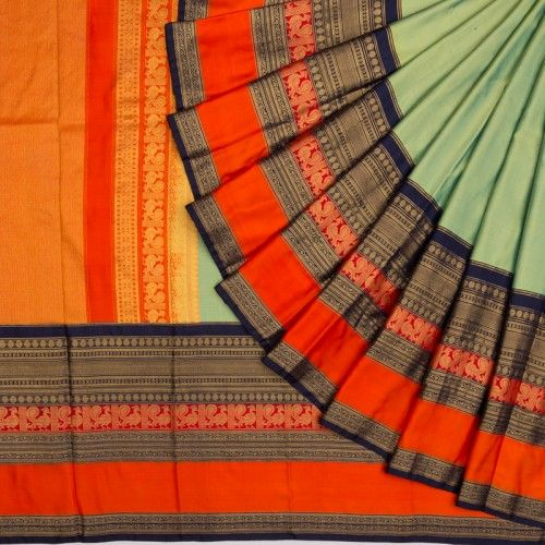 New Collection Of Designer Maheshwari Silk Saree MH9006