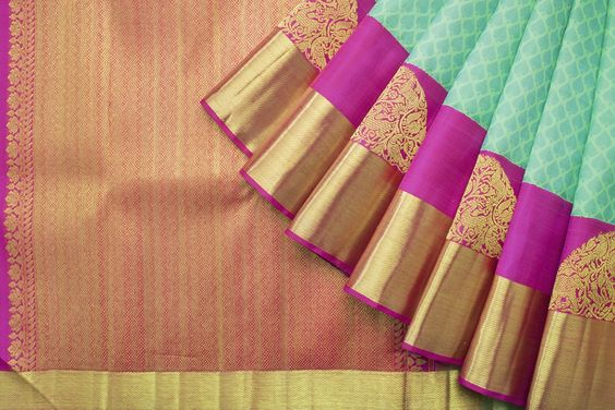 New Collection Of Designer Maheshwari Silk Saree MH9027