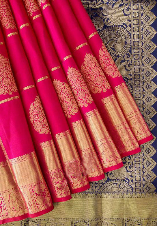 New Collection Of Designer Maheshwari Silk Saree MH9067