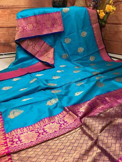 New  Best Collection Of Designer Soft Silk Saree SS8005