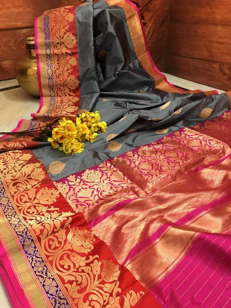 New  Best Collection Of Designer  Soft Silk Saree SS8028