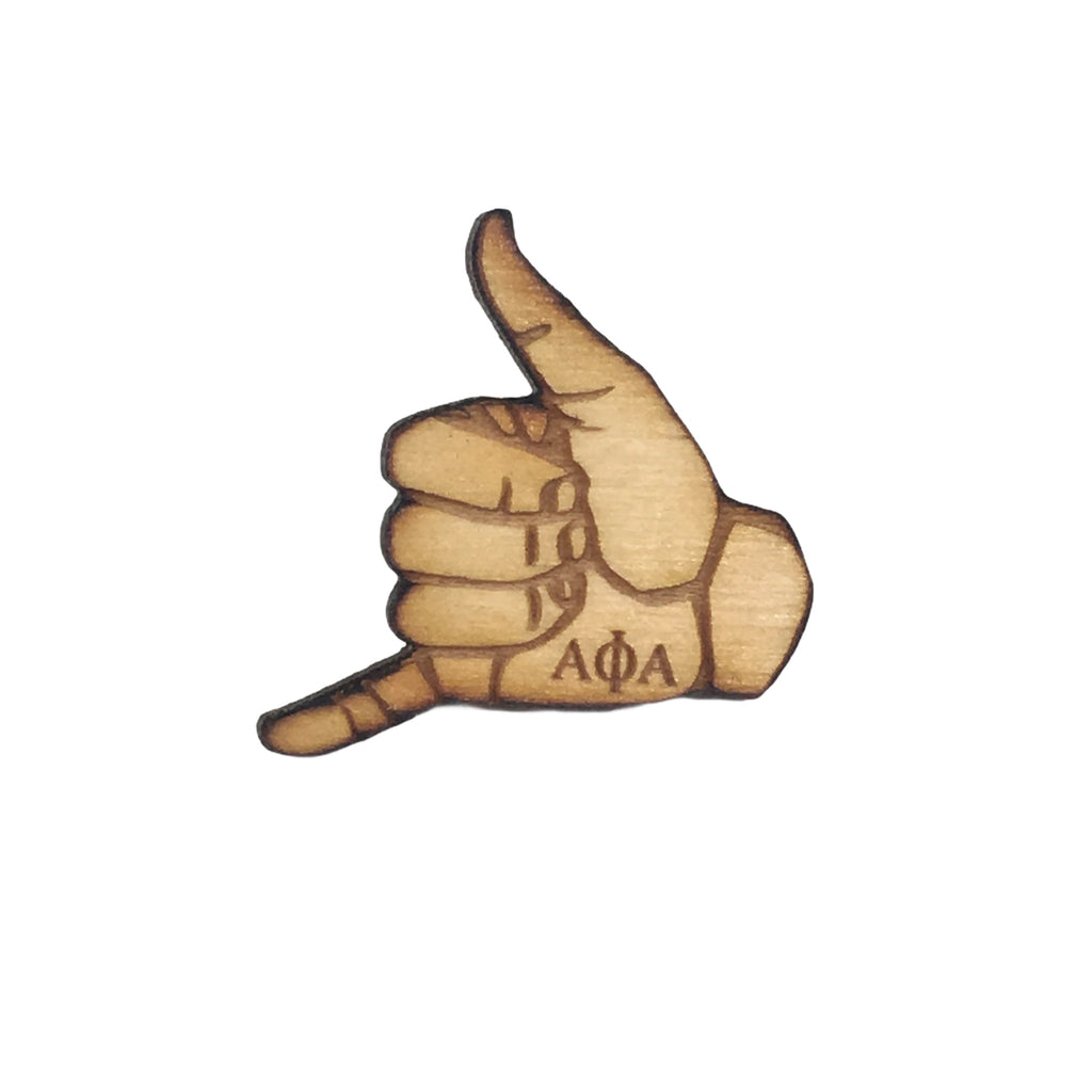Alpha Phi Alpha Handsign Lapel Pin