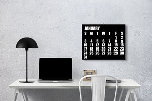 Minimalist 12-Month Wall Calendar - Best Year Planning