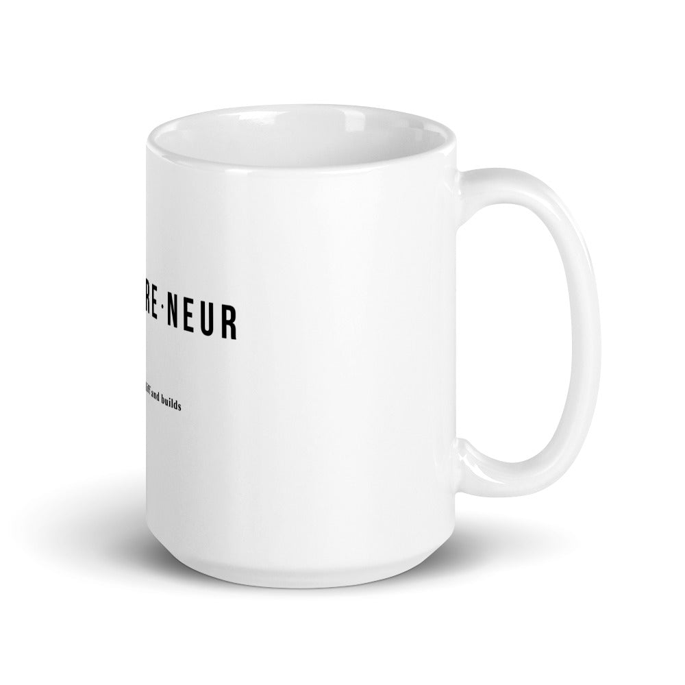 Gift for Entrepreneurs - Entrepreneur Coffee Mug.- Entrepreneur Definition Mug - Entrepreneur Mug
