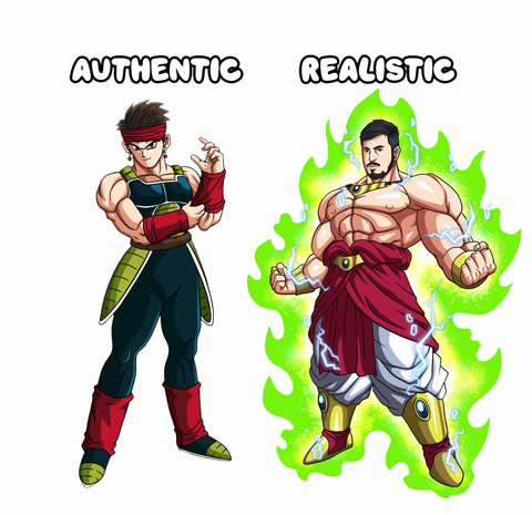 Authentic and Realistic Art Style Comparison