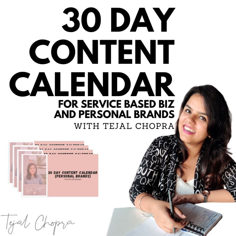 30 Day Content Calendar for Personal Brands