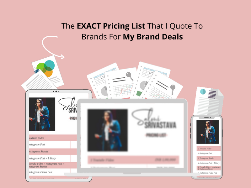 Saloni's Exact Pricing List Template