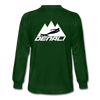 Long Sleeve T-Shirt- Mountain Skier White - forest green