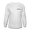 Long Sleeve T-Shirt- Mountain Skier Black - light heather gray