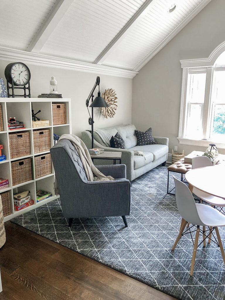 sitting area light and bright family room