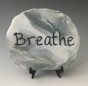Breathe - inspirational plaque