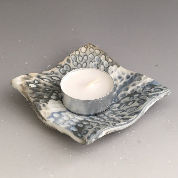 Tealight Candle Holder - pebble carved