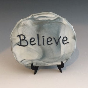 Believe - inspirational plaque