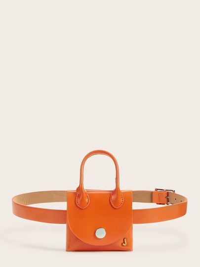 Miniature orange Fanny Pack Chain Belt