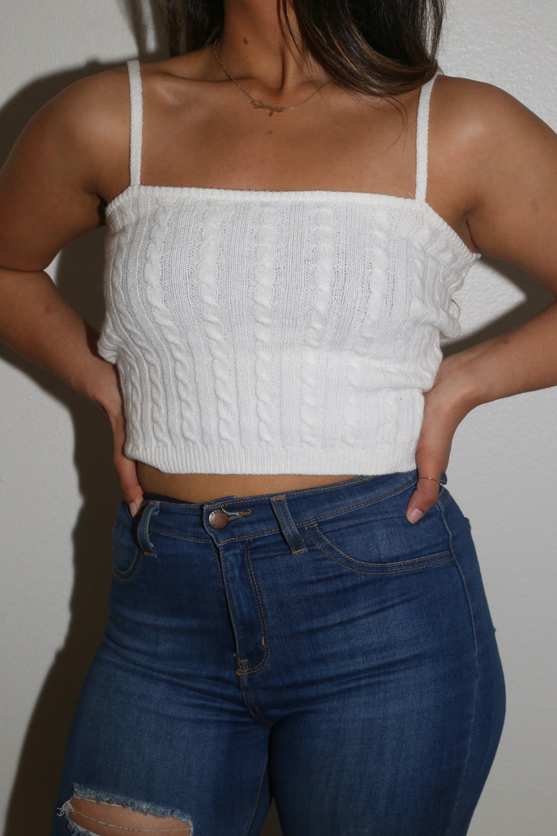 Mariah Crop Knit Top