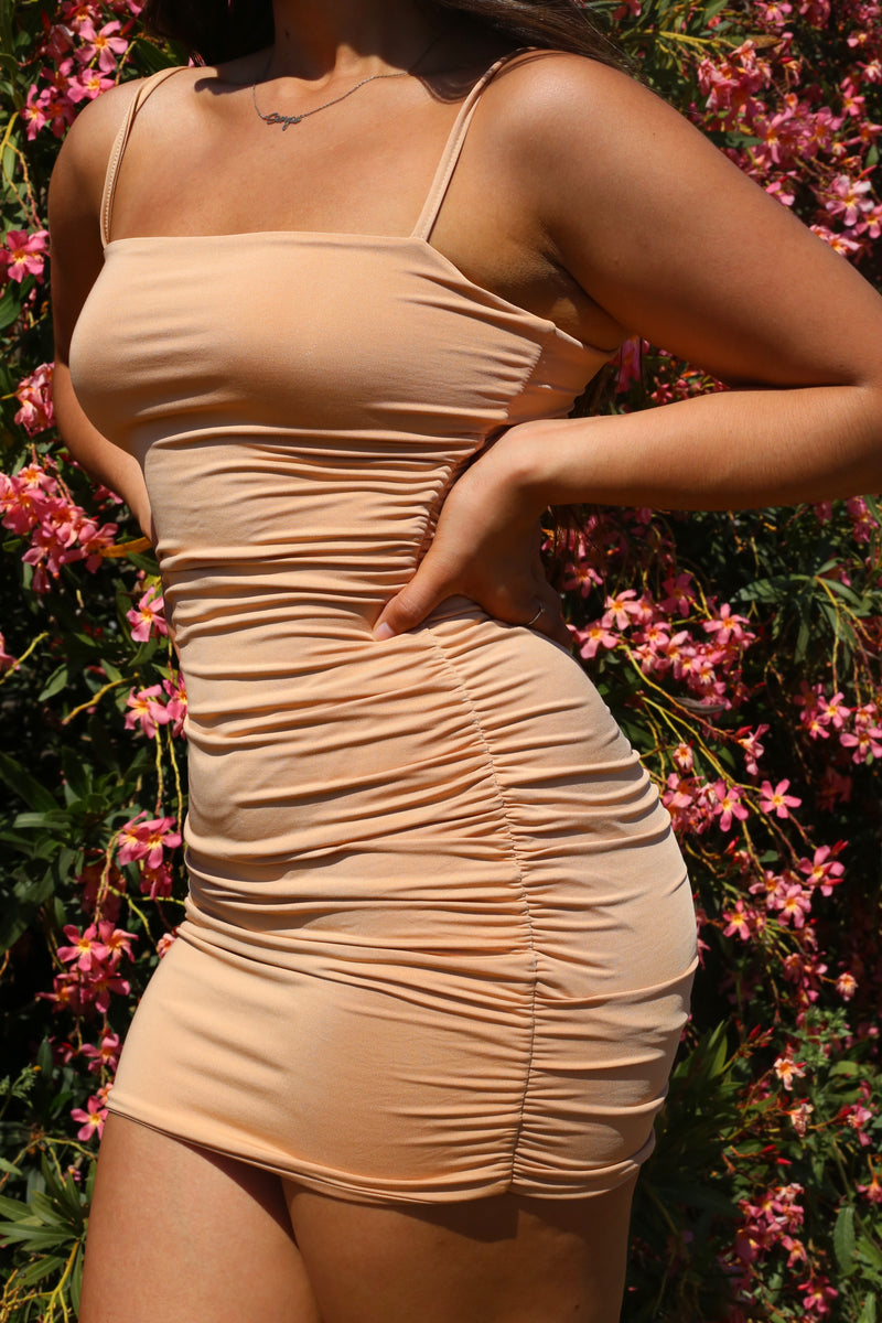 Mila Ruched Detail Bodycon Dress