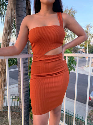 Un Poquito Sexi Rust Dress
