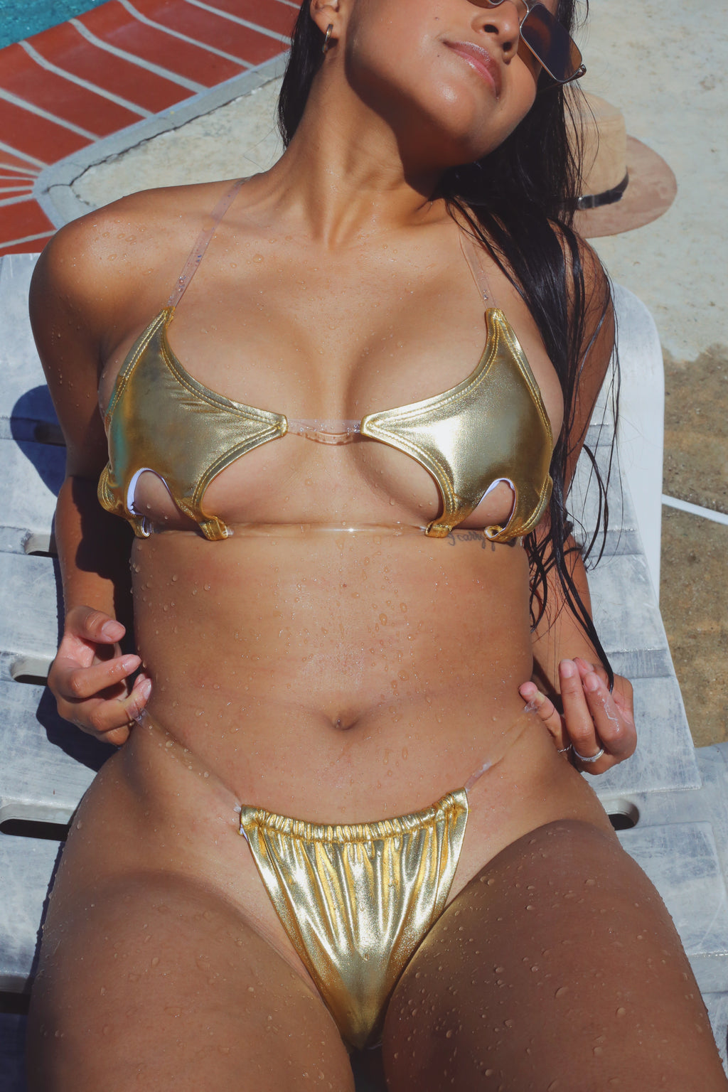 Camila Metallic Cut-out 2- Piece Bikini