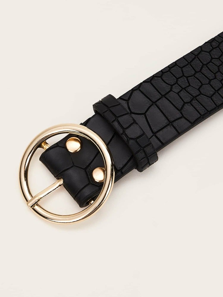 Tie me up Croc Pattern Belt