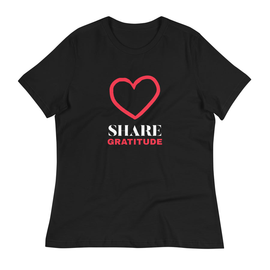 Ladies Premium Tee - Share Gratitude