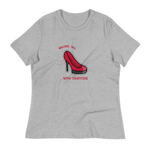 Ladies Premium Tee - Walking Tall With Gratitude